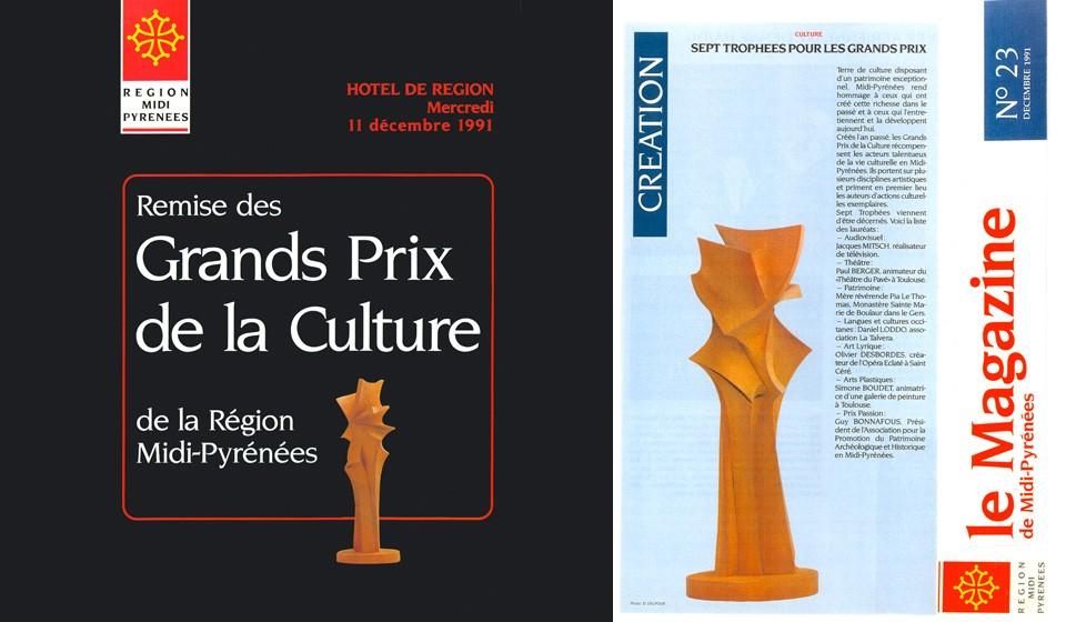 Grand Prix de la culture de la Région Midi-Pyrénées 1991